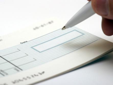 Cheque Banque De France